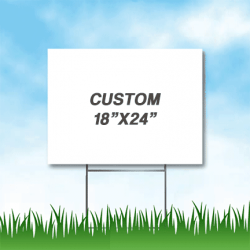 Cheap Yard Signs With Stakes
